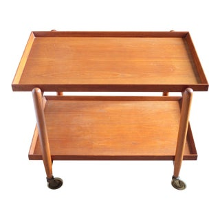 Poul Hundevad for Domus Danica Teak Extendable Bar Cart