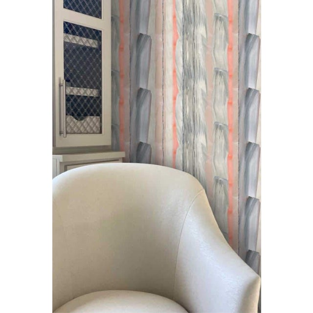 Not Yet Made - Made To Order Peach Marble Stripe Wallpaper For Sale - Image 5 of 10