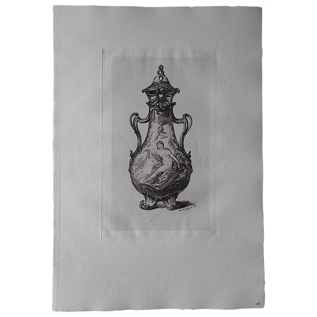 Antique Pottery Etching - Image 1 of 3