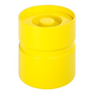 Rita Konig Collection Ice Bucket in Citron Yellow For Sale