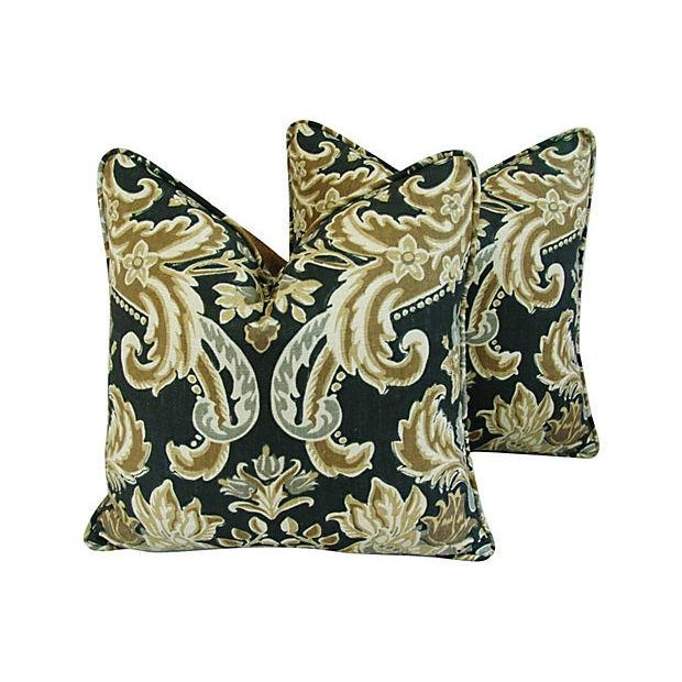 Custom Designer Kravet Lutron Old World Linen Pillows - Pair - Image 8 of 8