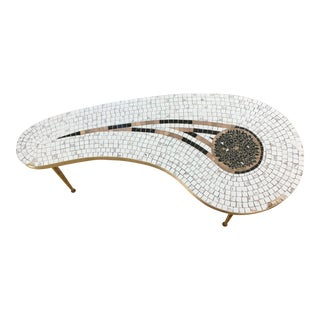 1960s Mid-Century Modern Ojai Mosaic Kidney Shape Coffee Table For Sale