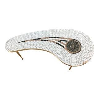 1960s Mid-Century Modern Ojai Mosaic Kidney Shape Coffee Table For Sale