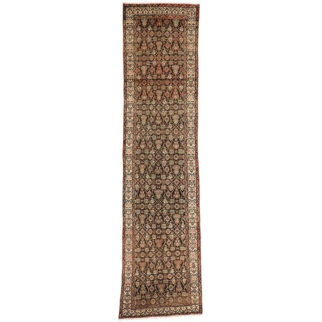 Antique Persian Malayer Carpet Runner with Traditional Modern Style For Sale - Image 9 of 9