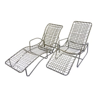 Mid Century Modern Brown Jordan Kantan Tamiami Lounge Chairs - a Pair For Sale