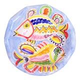 Image of Vintage La Musa Italian Pottery Large Fish Pedestal Bowl For Sale