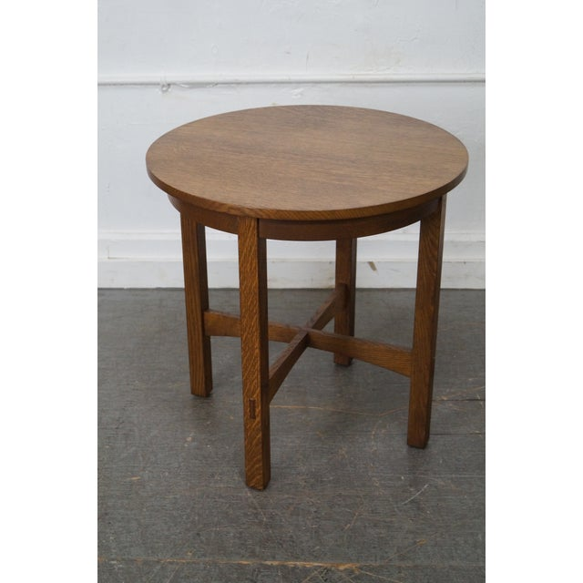 Stickley Mission Oak Side Table For Sale In Philadelphia - Image 6 of 10