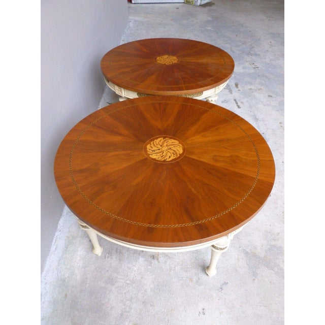 White 1950s Neoclassical Palladio Coffee Tables - a Pair For Sale - Image 8 of 13