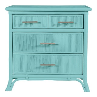 Aruba Four-Drawer Chest - Turquoise For Sale