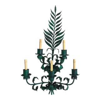Mid-Century Oversize Fern Sconce For Sale