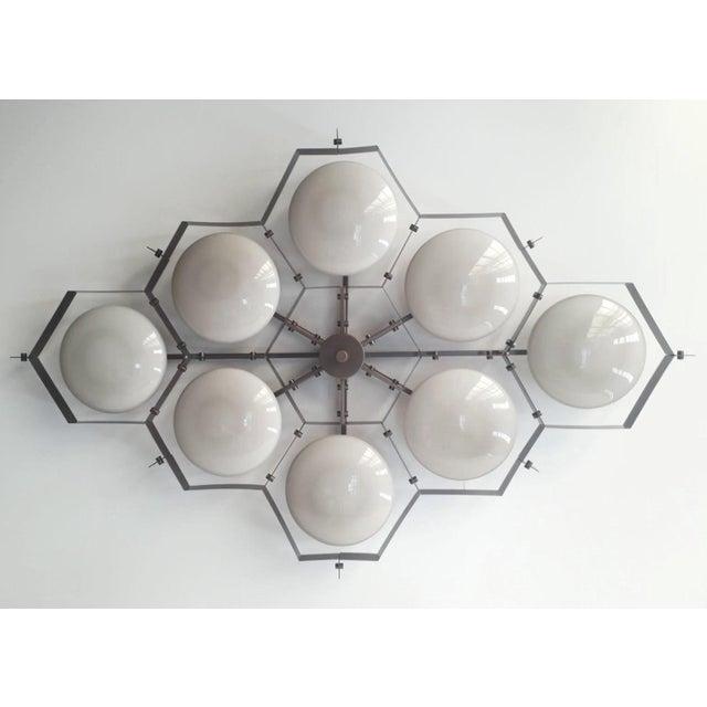 Italian Beehive Flush Mount by Fabio Ltd For Sale - Image 3 of 11