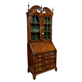 Queen Anne Walnut Secretary Bookcase
