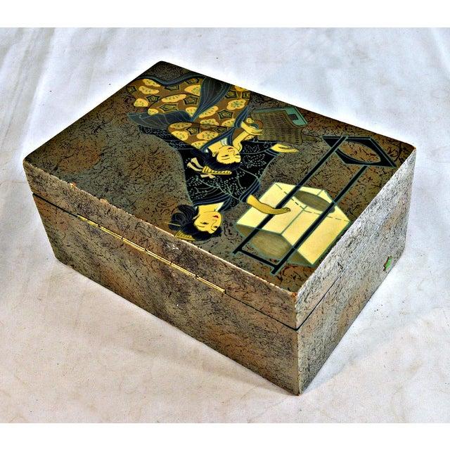 Asian Motive Trinket Box For Sale - Image 4 of 6