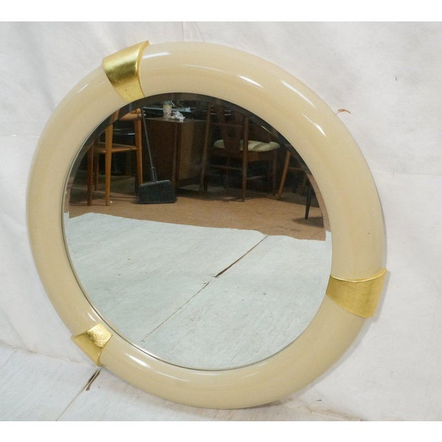 1970s Karl Springer Style Lacquered Mirror - Image 2 of 4