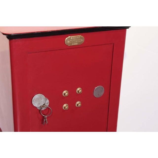 19th Century Parisian Iron Safe Box with Keys & Combination - Image 7 of 10