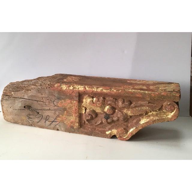 Gold 1780 Antique Gold Leaf Korbel For Sale - Image 8 of 9