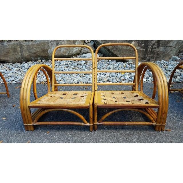 Vintage Paul Frankl Style Rattan Furniture - Set of 5 - Image 3 of 9
