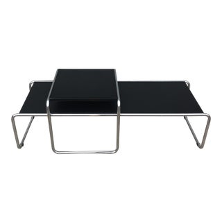 Modern Marcel Breuer Laccio Side and Coffee Tables - Set of 2 For Sale