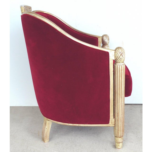 Paul Follot French Art Deco Settee and Bergères Set For Sale - Image 10 of 13