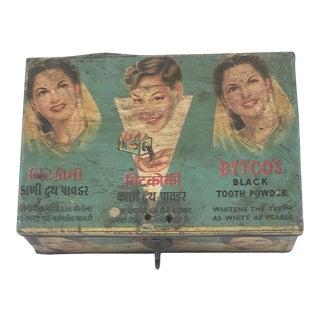 Vintage Indian Decorative Iron Box For Sale