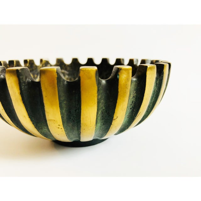Mid 20th Century Vintage Modernist Brass Bowl by Maurice Ascalon for Pal Bell For Sale - Image 5 of 8