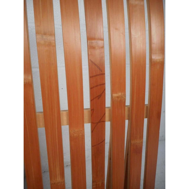 Brown Pair of Vintage Wood-Slat Chairs For Sale - Image 8 of 11
