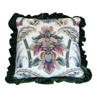 Designer Fabric Throw Pillow For Sale