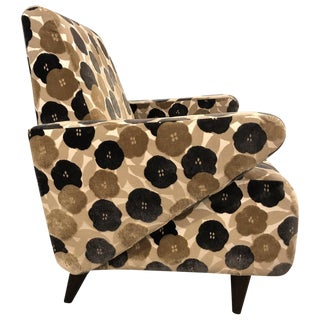 Floral Lounge Chair Modern Midcentury For Sale
