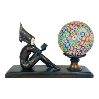 1960s Art Deco Pixie Boudoir Desk Lamp by JB Hirsch For Sale