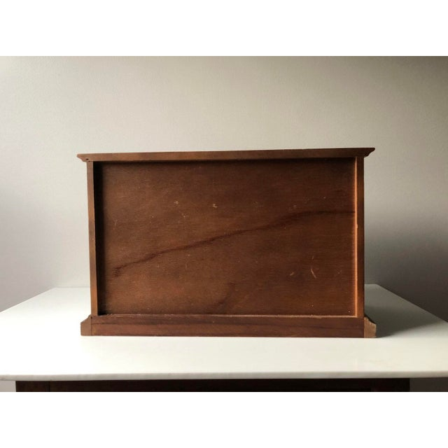 Brown Mid Century Wooden Jewelry Box For Sale - Image 8 of 11