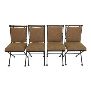 Mid Century Modern Cloe Baldon Iron Chairs- Set of 4 For Sale