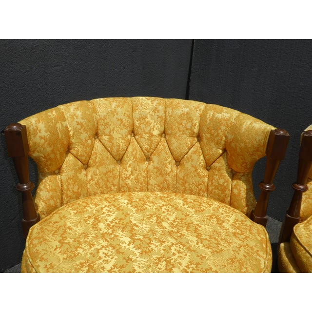 1960s Vintage Stacey House Atomic Era Gold Club Chairs - a Pair Mid Century Modern For Sale In Los Angeles - Image 6 of 13