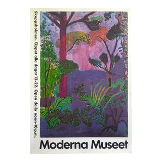 "Matisse Vintage 1987 Lithograph Print Moderna Museet Museum Poster "" Moroccan Landscape "" 1911 For Sale"