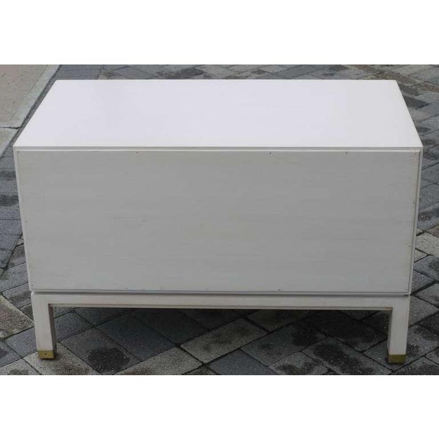 Wood Faux Ivory Low Chest by Dunbar For Sale - Image 7 of 11