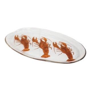 1960s Art Glass Lobster Platter For Sale