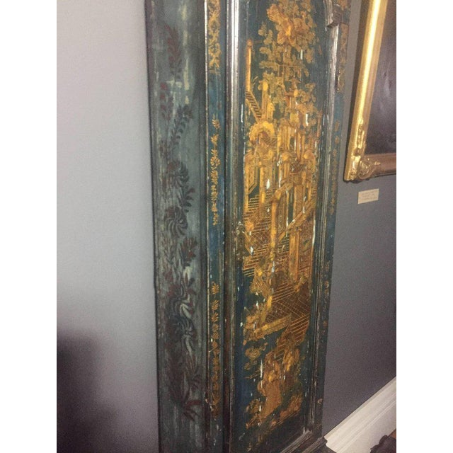 Black Late 18th Century English Chinoiserie Tall Case Clock For Sale - Image 8 of 11
