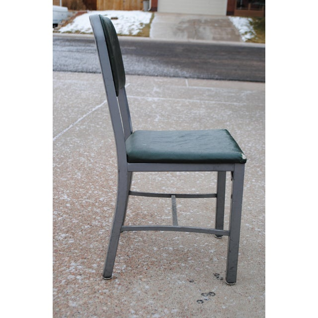 Mid-Century Industrial Tanker Desk Chair For Sale - Image 4 of 9