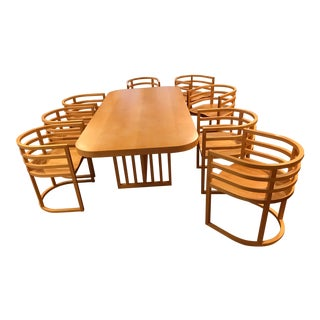 Richard Meier Dining Room Setting Table and Chairs & Coffee Table Set - 10 Pc. Set For Sale