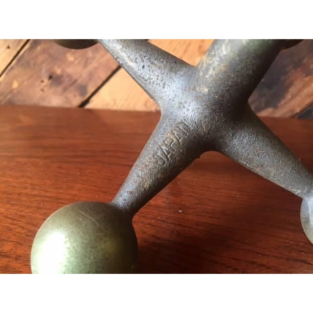Vintage Brass Jacks Bookends - A Pair - Image 3 of 4