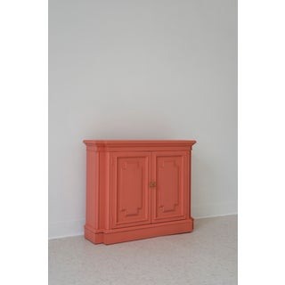 20th Century Hollywood Regency Coral/Salmon Entry Cabinet Preview
