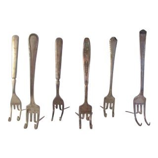 Victorian Fork Place Card Holders - Set of 6 For Sale