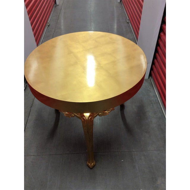 Gold Round Entry Table - Image 3 of 9