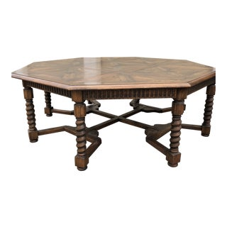Renaissance Octagon Oak Dining Table