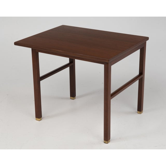 Dunbar Furniture Cantilevered Dunbar Side End Table Edward Wormley 1960s Marked For Sale - Image 4 of 12