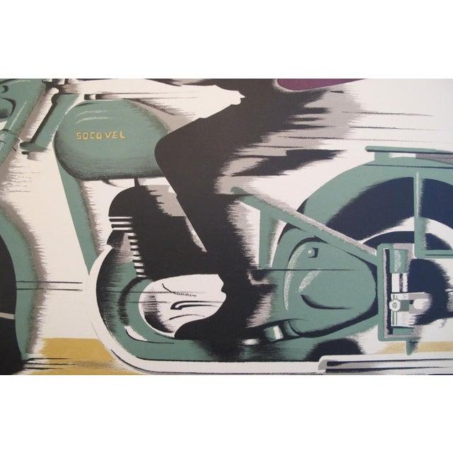 1940s Belgian Art Deco Motorcycle Poster - Image 5 of 5