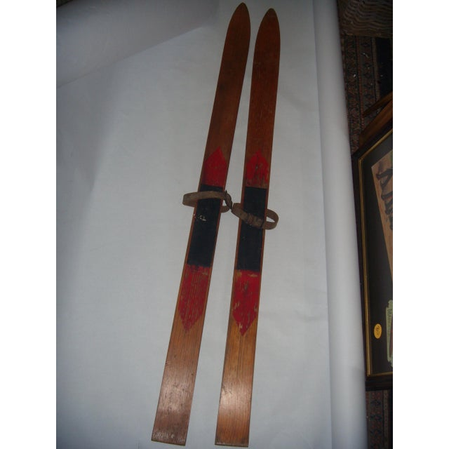Vintage Wood Child's Skis - A Pair - Image 2 of 7