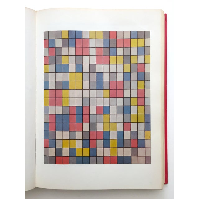 """White """" Piet Mondrian - Life and Work """" Rare Vintage 1956 1st Edtn Collector's Iconic Large Volume Lithograph Print Modernist Art Book For Sale - Image 8 of 13"""
