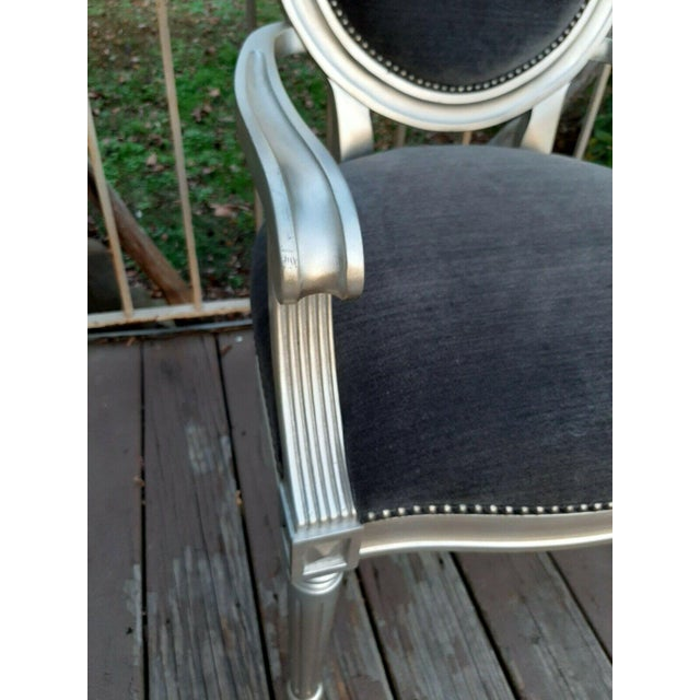 Wood Bernhardt Louis Arm Chairs - a Pair For Sale - Image 7 of 13