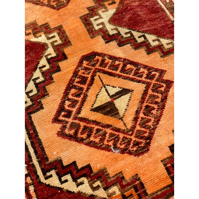 "1940s 1950's Vintage Turkish Anatolian Runner Rug - 3'2""x11'2"" For Sale - Image 5 of 13"