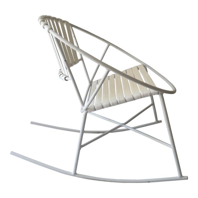 Mid-Century Outdoor Rocking Chair - Image 1 of 8